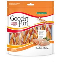 Good'n'Fun Triple Flavored Rawhide Twists for Dogs, 35-Count