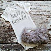5ed98404e40 Newborn Baby Girls Cotton Tops Romper Jumpsuit Tutu Shorts Dress 2Pcs  Outfits Set Clothes