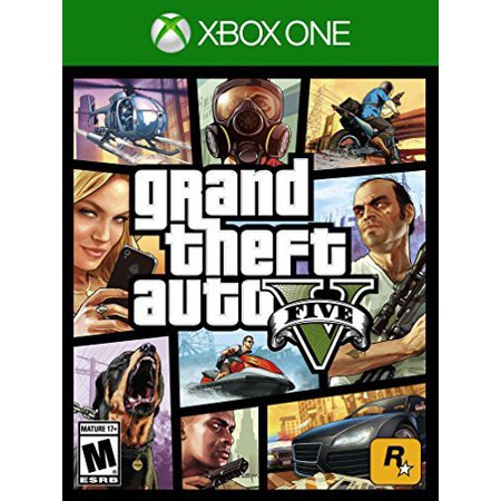 Grand Theft Auto V Rockstar Games Xbox One 710425495243 Walmart Com