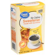 (400 Packets) Great Value Sweetener with Sucralose Packets