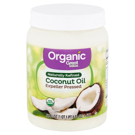 Whole Coconut Oil (Great Value Organic Naturally Refined Coconut Oil, 56 fl oz)