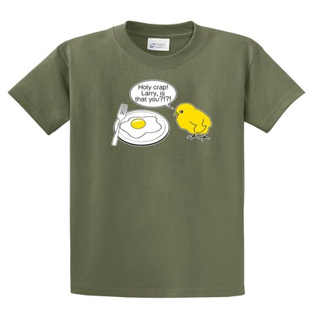Funny T-Shirt Chick and Eggs Larry Is That You (Chick Short)