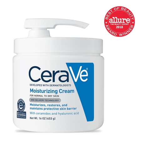 Progesterone Cream Pump (CeraVe Moisturizing Cream with Pump, Body Cream for Dry Skin, 16 oz. )