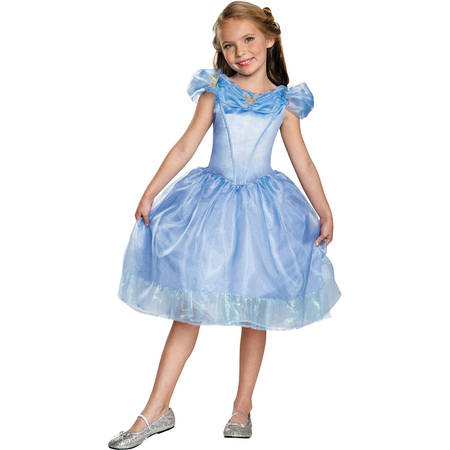 Cinderella Movie Classic Child Halloween Costume - Halloween Costumes Denim Dress