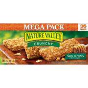 (6 Pack) Nature Valley Oats 'N Honey Crunchy Granola Bars, 26.82 oz