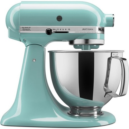 KitchenAid KSM150PSAQ Artisan Series 5-Quart Tilt-Head Stand Mixer, Aqua (Holds 10 Mixer)