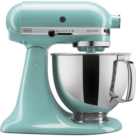 KitchenAid KSM150PSAQ Artisan Series 5-Quart Tilt-Head Stand Mixer, Aqua