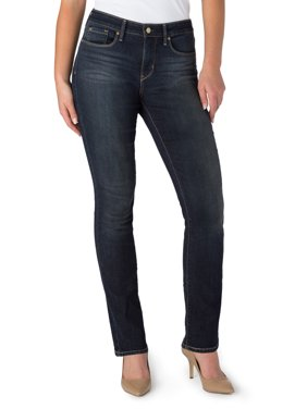 Signature by Levi Strauss & Co. Women's Totally Shaping Slim Straight Jeans