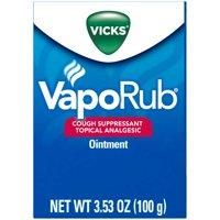 Vicks VapoRub Cough Suppressant Topical Analgesic Ointment 3.53 oz