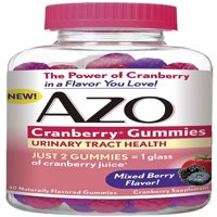 2 Pack - AZO Cranberry Gummies Urinary Tract Health, Mixed Berry 40 ea