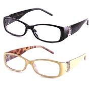 cbe3d4e4c8e4 Newbee Fashion Stylish Women Clear Lens Eye Glasses Squared Small Frame Two  Tone Colors
