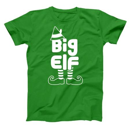 - Big Elf Small Green Basic Men's T-Shirt