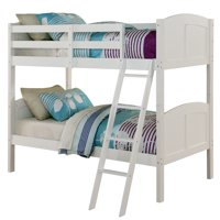 Angel Line Creston Twin Over Twin Wood Bunk Bed, White