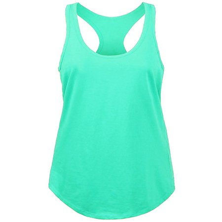 Womens RACERBACK TANK TOP Soft Casual Sleeveless Tank Top ()