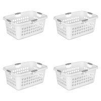 Sterilite, 2 Bushel/71 L Ultra™ Laundry Basket, White, Case of 4