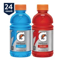 Gatorade Thirst Quencher Sports Drink Variety Pack, Fruit Punch and Cool Blue, 12 oz Bottles, 24 Count