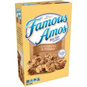 (3 Pack) Famous Amos Bite Size Chocolate Chip & Pecans Cookies, 12.4 oz