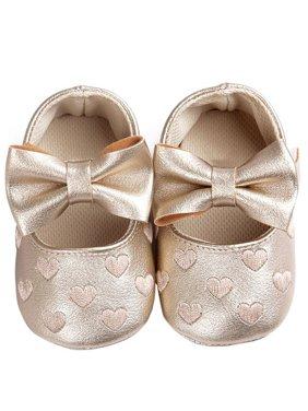 Product Image Babula Baby Girl Crib Shoes Bowknot Soft Sole Anti-slip Shoes 0-18M