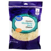 Great Value, Shredded Monterey Jack Cheese, 8 Oz.
