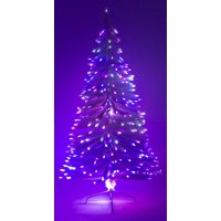 4' Ft White Artificial Holiday Christmas Tree w/ Fiber Optic Multi-Colored Light