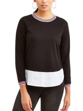 Product Image Women s Athletic Trim Twofer Sweatshirt 187164f813