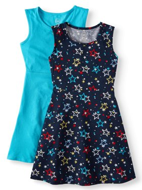 Sleeveless Play Dress, 2-Pack (Little Girls, Big Girls & Big Girls Plus)