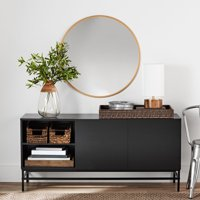 Mainstays Sumpter Park Console Table, Black Oak
