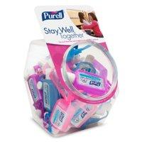 Purell Advanced Instant Hand Sanitizer Gel, Jelly Wrap Bracelet,1oz, 25/Bowl - GOJ390025BWL