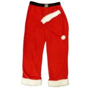 Joe Boxer Mens Red Fleece Santa Claus Sleep Pants Pajama Bottoms   Santa Hat 1a691e924