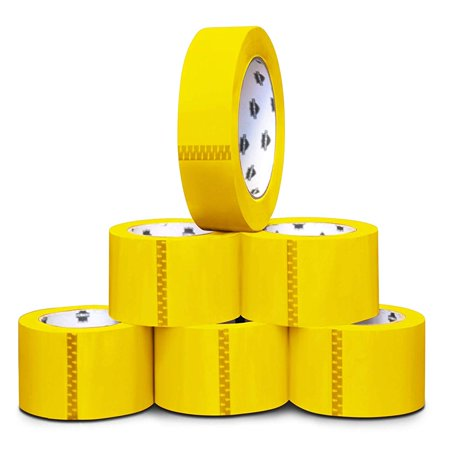 Yellow Color Carton Sealing Tape, 2.0 Mil Thick, 2