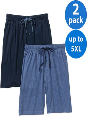Hanes Big Men's 2 Pack Knit Shorts