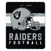 "NFL Oakland Raiders ""Singular"" 50"" x 60"" Fleece Throw"