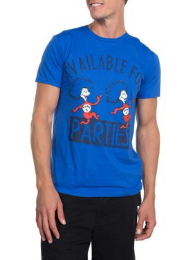 "Dr. Seuss Men's ""Thing 1 Thing 2 Party"" Short Sleeve Graphic T-Shirt , up to Size 3XL"