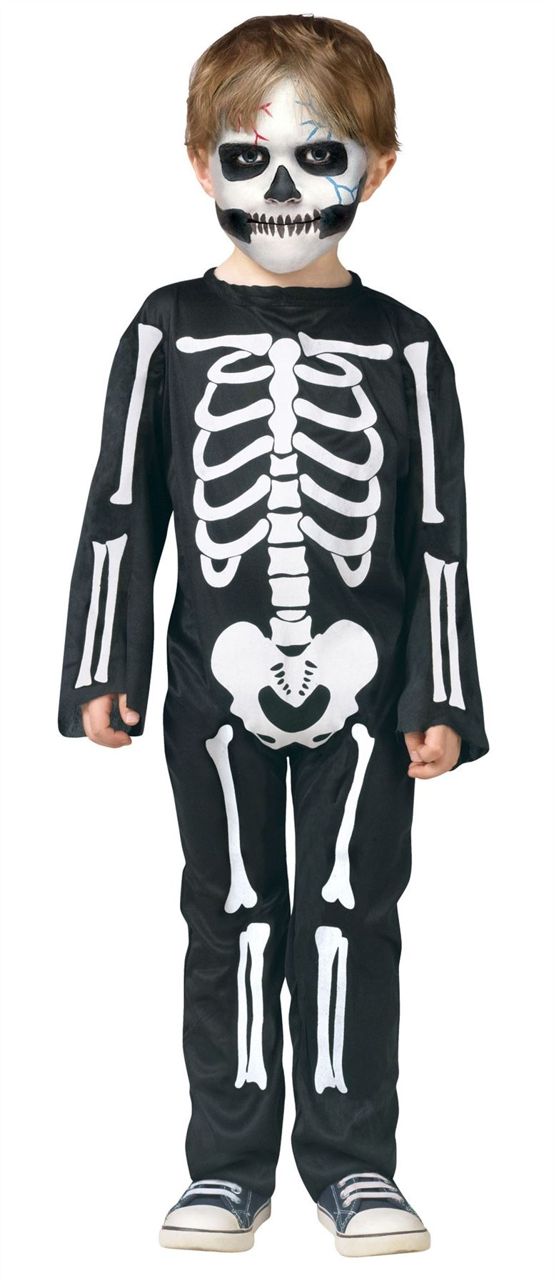 Skeleton Bones Jumpsuit Halloween Costume Toddler 3T 4T