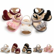da9f5323e Princess Baby Infant Kid Girls Soft Sole Crib Toddler Summer Sandals Shoes  0-18M