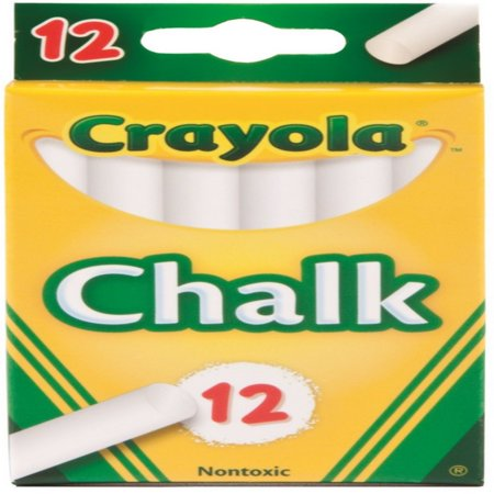 Crayola Chalk, White 12 ea (Pack of 2)