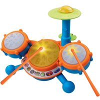 VTech KidiBeats Drum Set With Four Drum Sounds and Three Music Styles