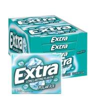 Extra Gum, Polar Ice Sugarfree Gum, 15 Sticks (Pack of 10)