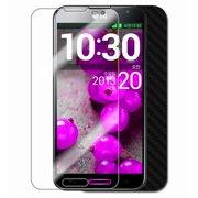Skinomi Carbon Fiber Black Phone Skin+Screen Protector for LG Optimus G Pro