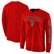 6db8827ac64 Texas Tech Red Raiders Fanatics Branded Distressed Arch Over Logo Long  Sleeve Hit T-Shirt