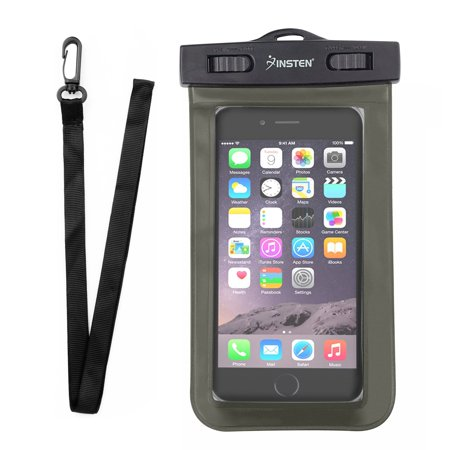 Insten Waterproof Underwater Phone Pouch Case Carrying Bag with Lanyard & Armband for iPhone XS XS Max XR X 8 7+ 6 Samsung S10 S10e S9 S9+ S8 S7 Plus Edge ZTE Zmax Pro Max Blade Spark Universal](Swastika Armband)
