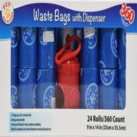 (2 Pack) Pet All Star Waste Bags with Dispenser, 720 count