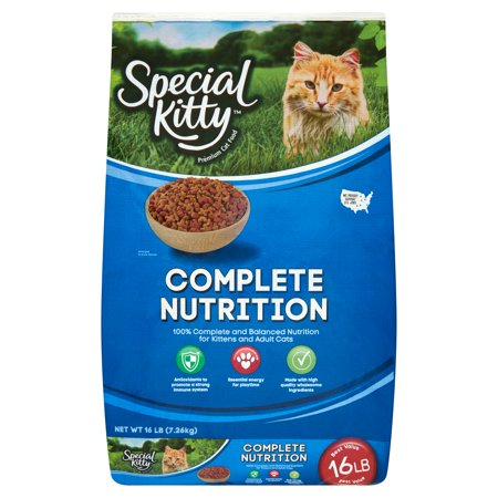 - Special Kitty Complete Nutrition Formula Dry Cat Food, 16 lb