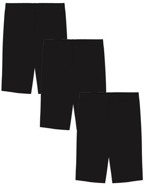 Girls' Value Pack Solid Cotton Bike Shorts (Pack of 3) - Sizes 2-16 Made in USA