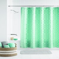 Mainstays Geo Jacquard Fabric Shower Curtain