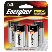 Energizer MAX Alkaline, C Batteries, 4 Pack