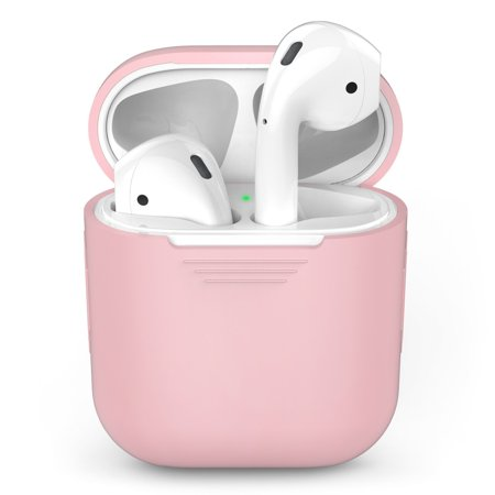 Tiehnom AirPods Silicone Case Cover Protective Skin for Apple Air pods Charging Case, Pink (Airpods or Airpod Charger Case Not Included) Critic Aid Skin Paste Case
