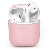 Tiehnom AirPods Silicone Case Cover Protective Skin for Apple Air pods Charging Case, Pink