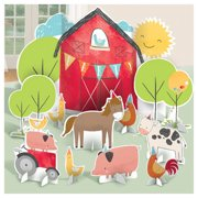 Farm Party Barnyard Birthday Deluxe Table Decorating Kit