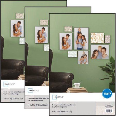 Format High Contrast Fixed Frame (Mainstays 11x17 Format Picture Frame, Set of 3)